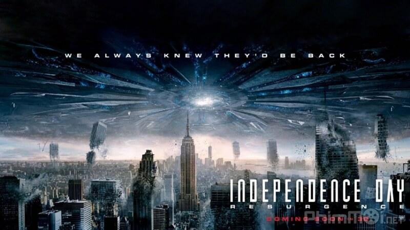 Bộ phim phiêu lưu sử thi quot;Ngày Độc lậpquot;, các hiện tượng kỳ lạ xuất hiện trên khắp thế giới ngay gần ngày Quốc khánh Mỹ.